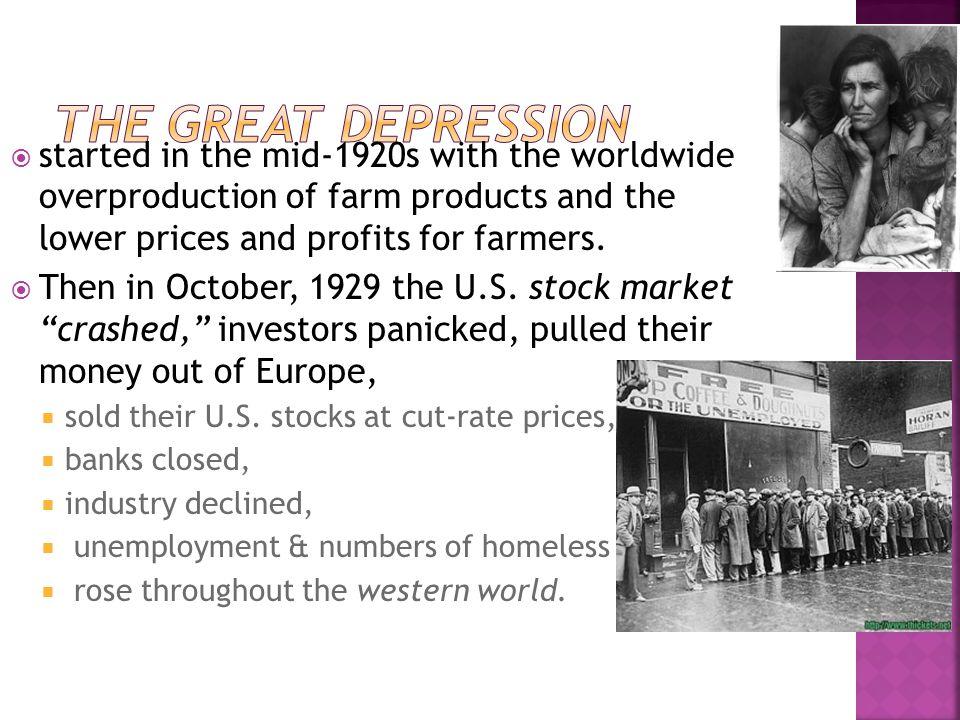  Soviet Union (Russia) = lost World War I, suffered civil war & communism, famine & industrial collapse.