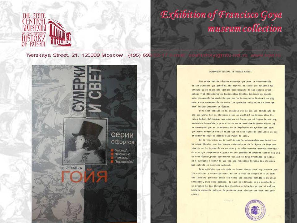 Series Caprichos Exhibition of Francisco Goya museum collection