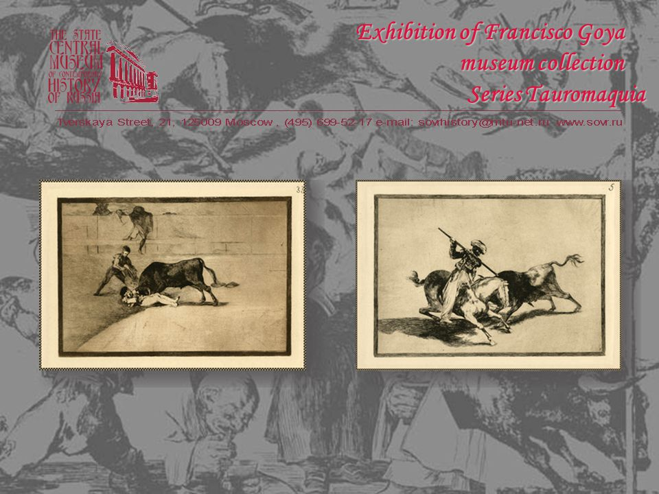 Series Proverbs Exhibition of Francisco Goya museum collection