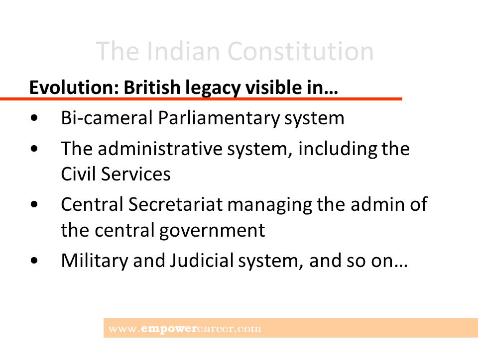 The Indian Constitution Thank you. www. empower career.com