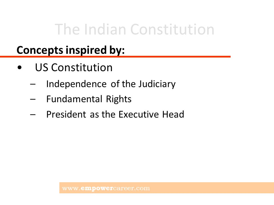 The Indian Constitution 448 Articles; some of the important ones..