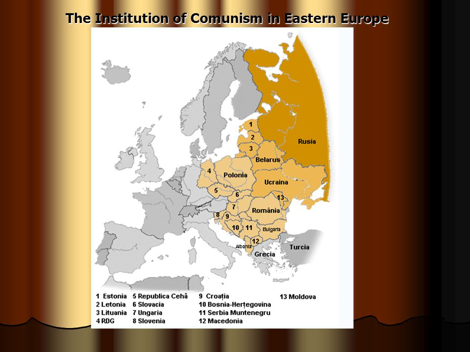 The Institution of Comunism in Eastern Europe