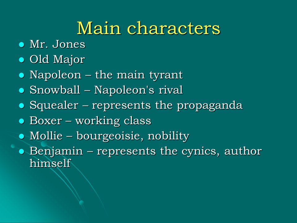 Main characters Mr. Jones Mr.