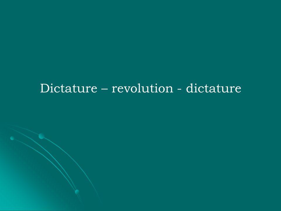 Dictature – revolution - dictature
