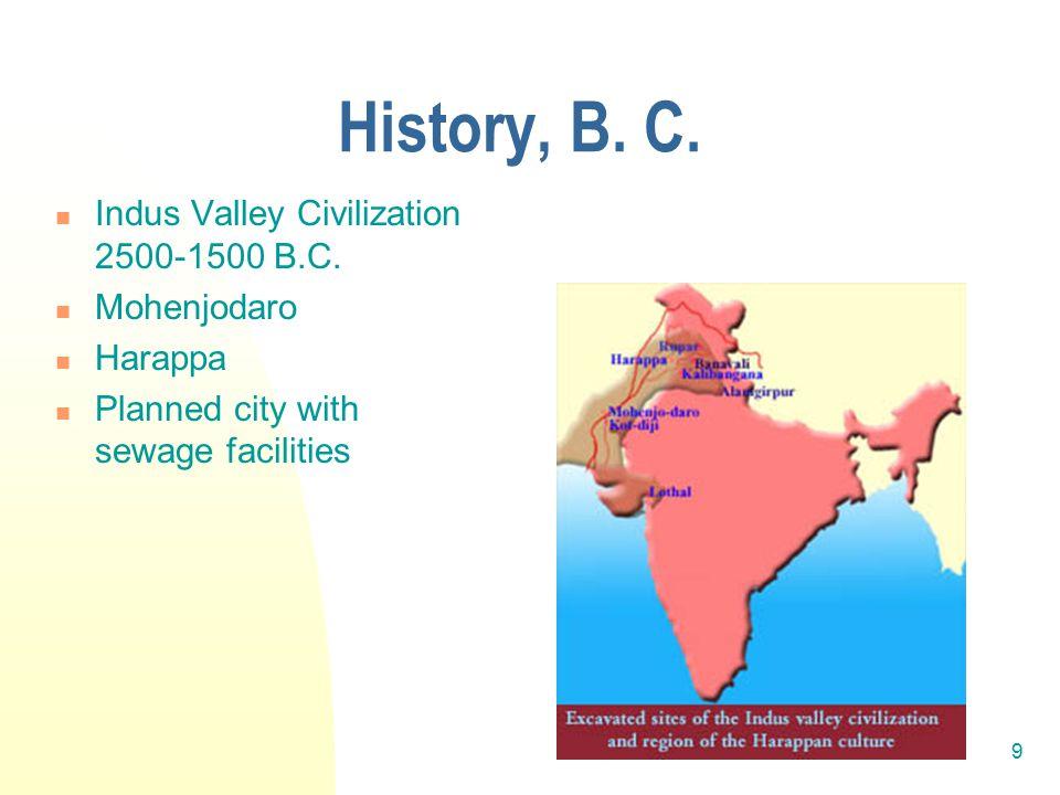 10 History, B.C., cont.