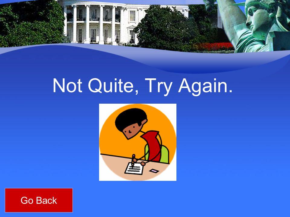Not Quite, Try Again. Go Back