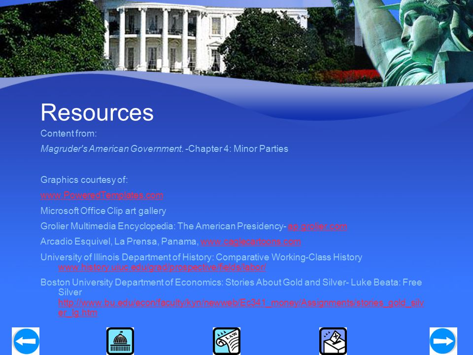 Resources Content from: Magruder s American Government.