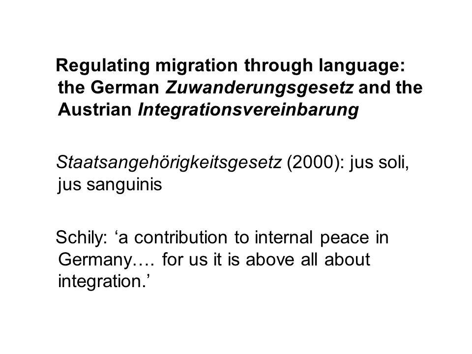 'We must ensure that those who live here speak German.