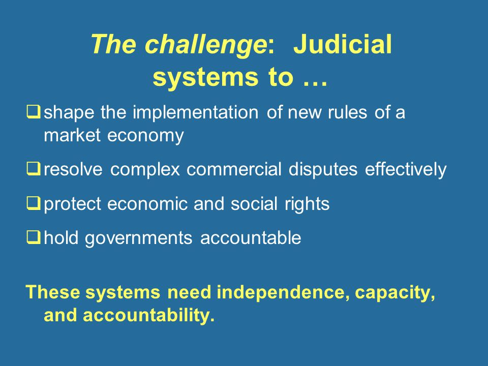  somewhat stronger capacity: more complex aspects of court performance