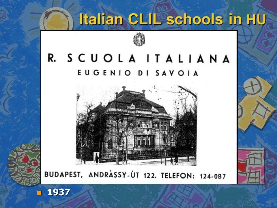Italian CLIL schools in HU n 1937