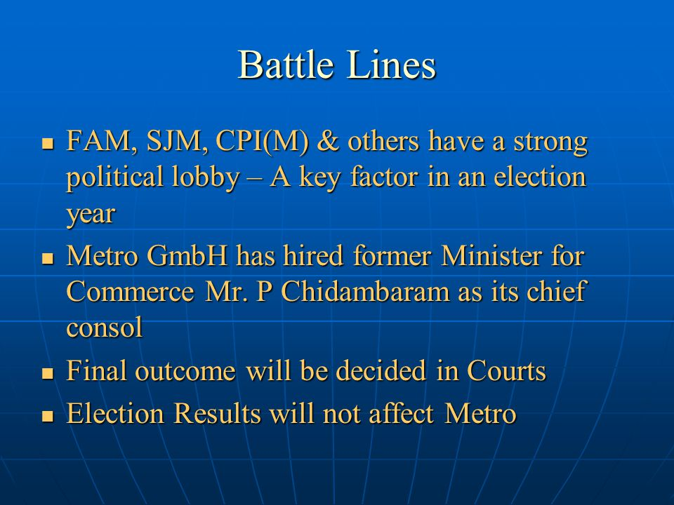 Political Battle – Contd. Foreign Retailers is now an Election Issue.