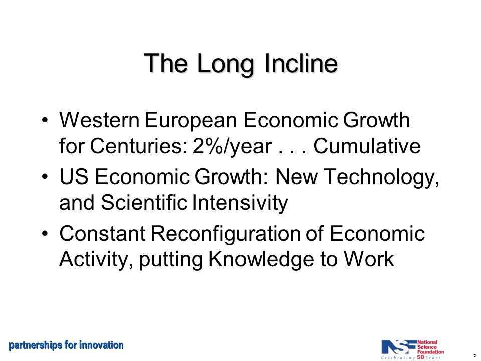 5 The Long Incline Western European Economic Growth for Centuries: 2%/year...