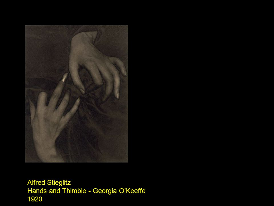 Alfred Stieglitz Hands and Thimble - Georgia O Keeffe 1920