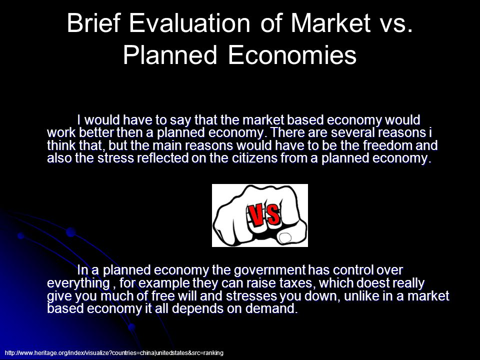 Brief Evaluation of Market vs.