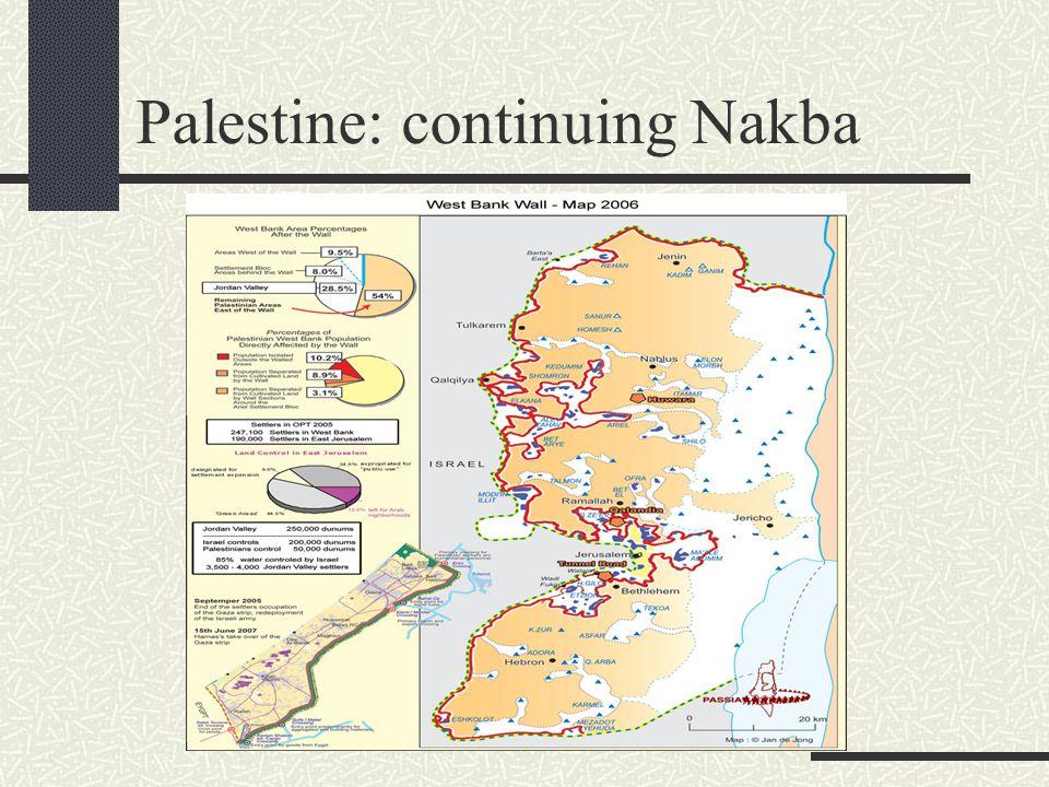 Palestine: continuing Nakba