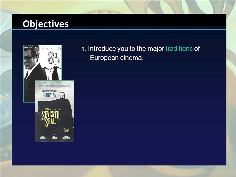 Click to edit Master title style n Click to edit Master text styles n Second level n Third level n Fourth level n Fifth level The Power of Cinema The Yanks have colonized our subconscious. --Wim Wenders