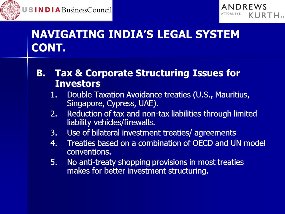 NAVIGATING INDIA'S LEGAL SYSTEM CONT.