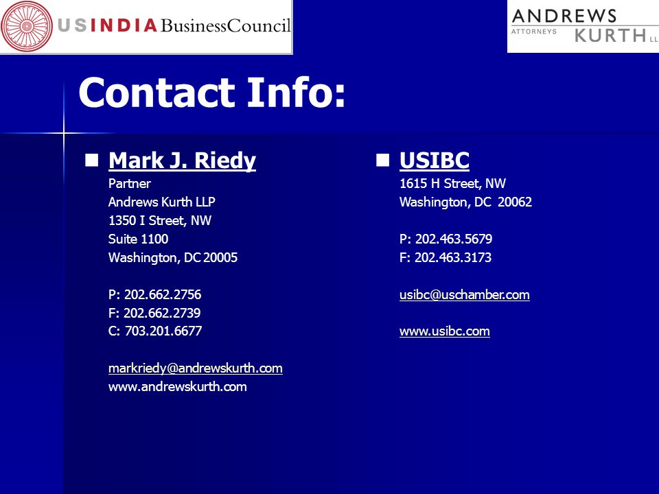 Contact Info: Mark J.
