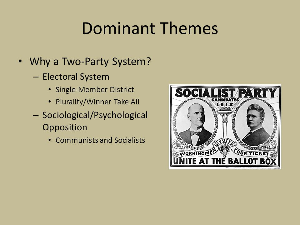 Dominant Themes Why a Two-Party System.
