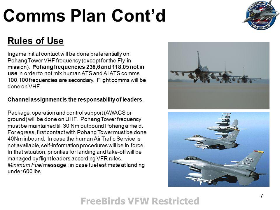 58 FreeBirds VFW Restricted Kumya-up Bridge (225/030) Bridge : N39 34 673 E 128 29 207 Appendix Secondary Targets 7th Infantry corps base (bull's 235/020) DMPI 1 : admin building : N 39 45 019 E 128 36 942 DMPI 2 : radar : N 39 44 766 E 128 36 515