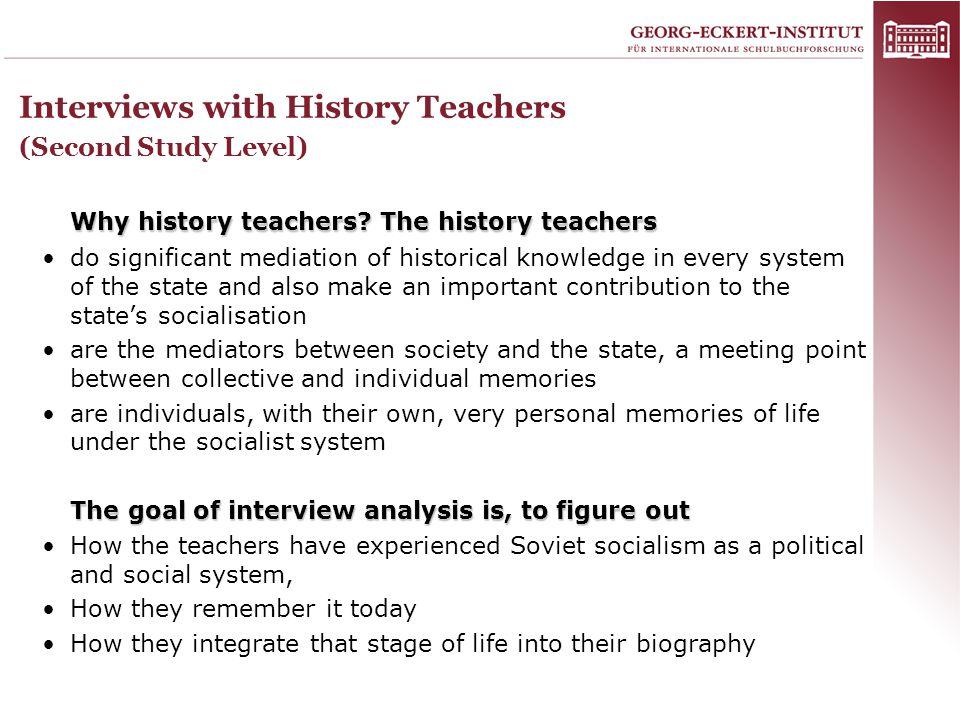 Why history teachers.