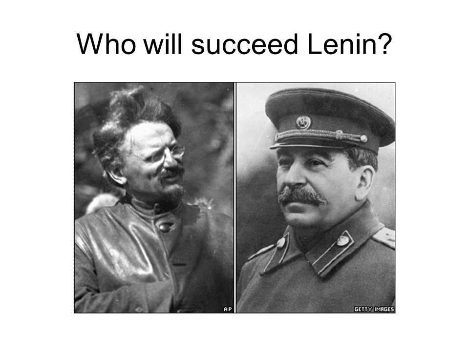 In 1924 Lenin dies. His body is preserved in the Kremlin.