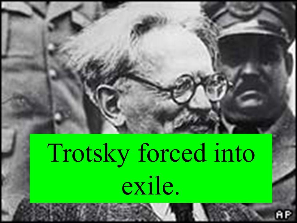 Stalin takes power.