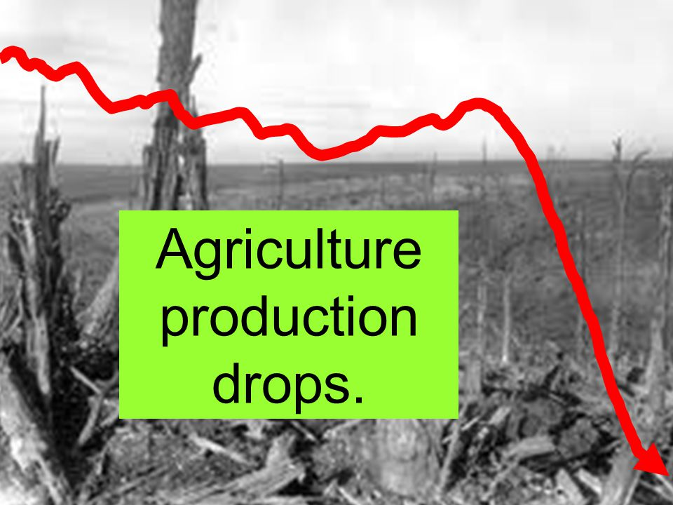 The farms are destroyed.