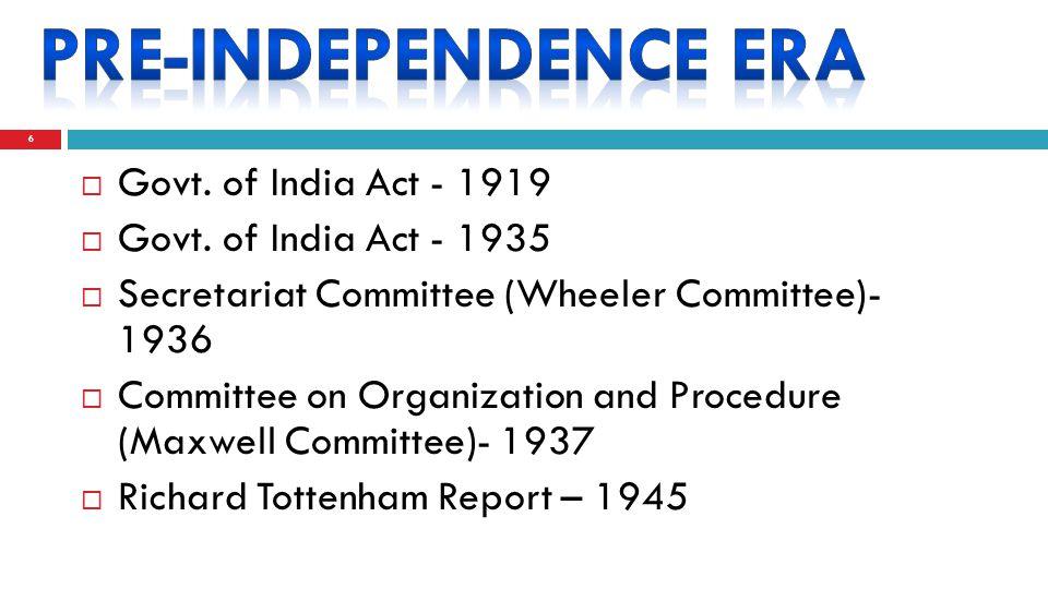 6  Govt. of India Act - 1919  Govt.