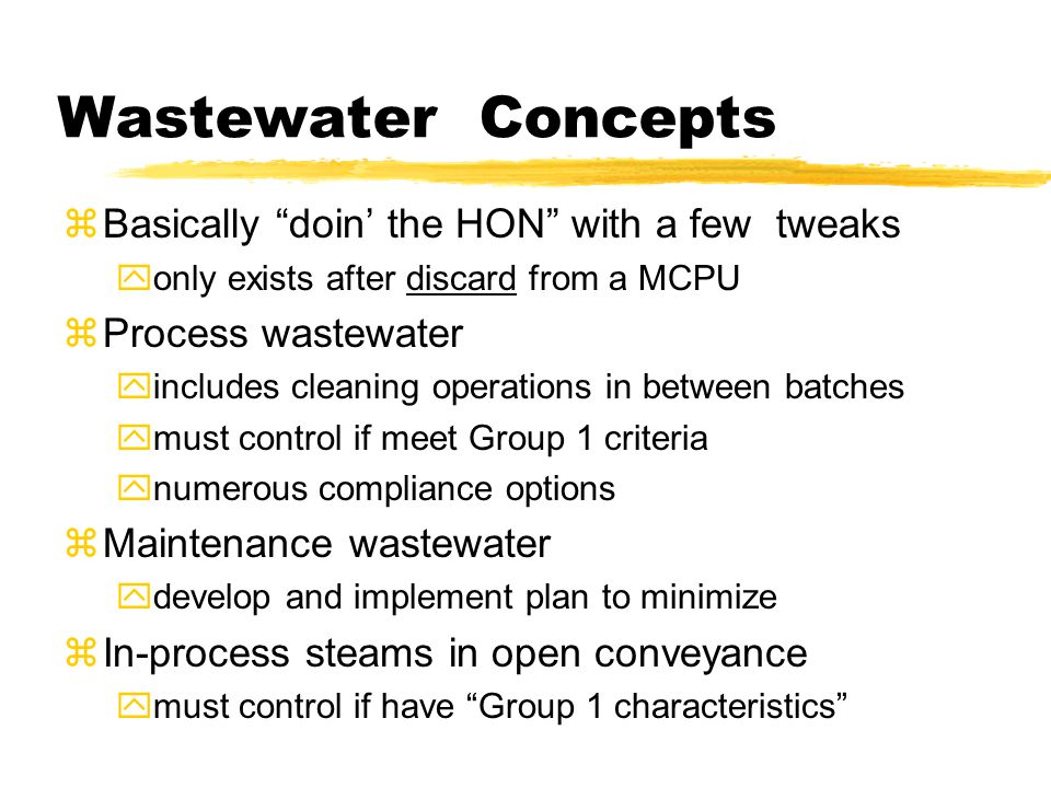 """Wastewater Concepts zBasically """"doin' the HON"""" with a few tweaks yonly exists after discard from a MCPU zProcess wastewater yincludes cleaning operati"""