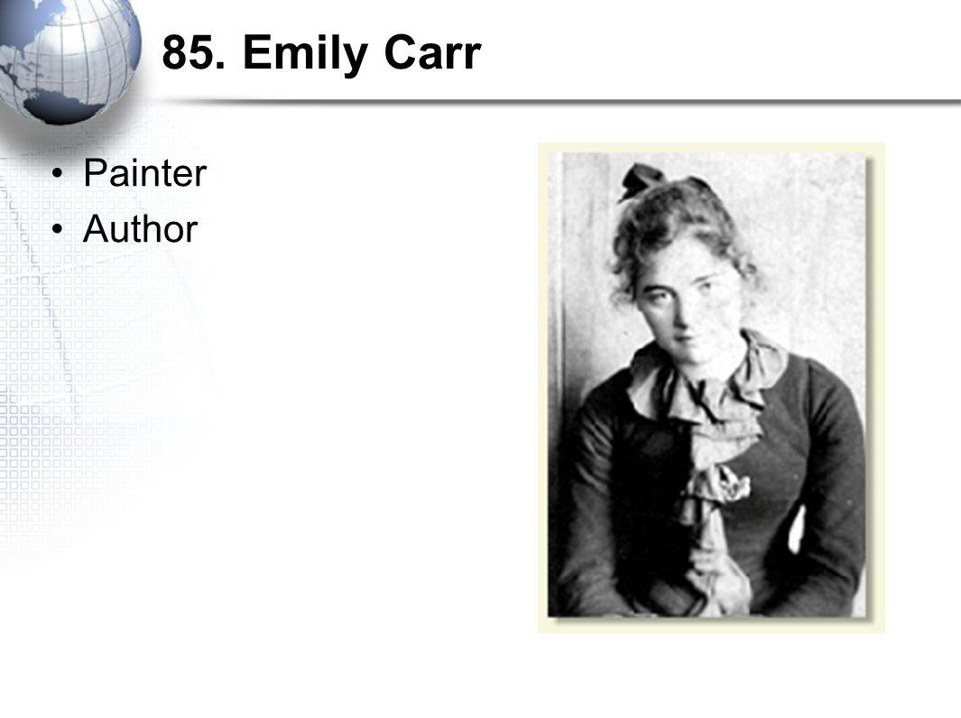 85. Emily Carr Painter Author