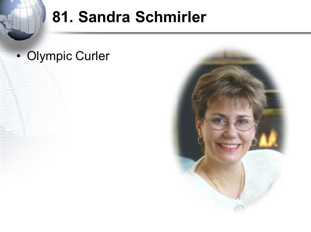 81. Sandra Schmirler Olympic Curler