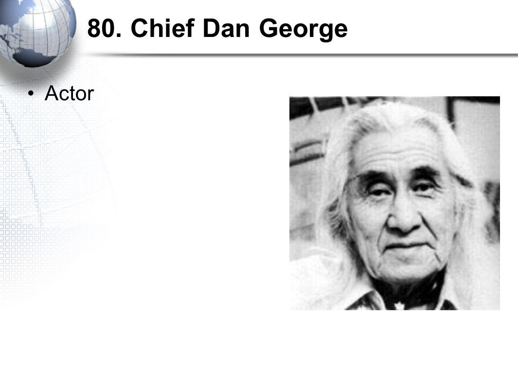 80. Chief Dan George Actor