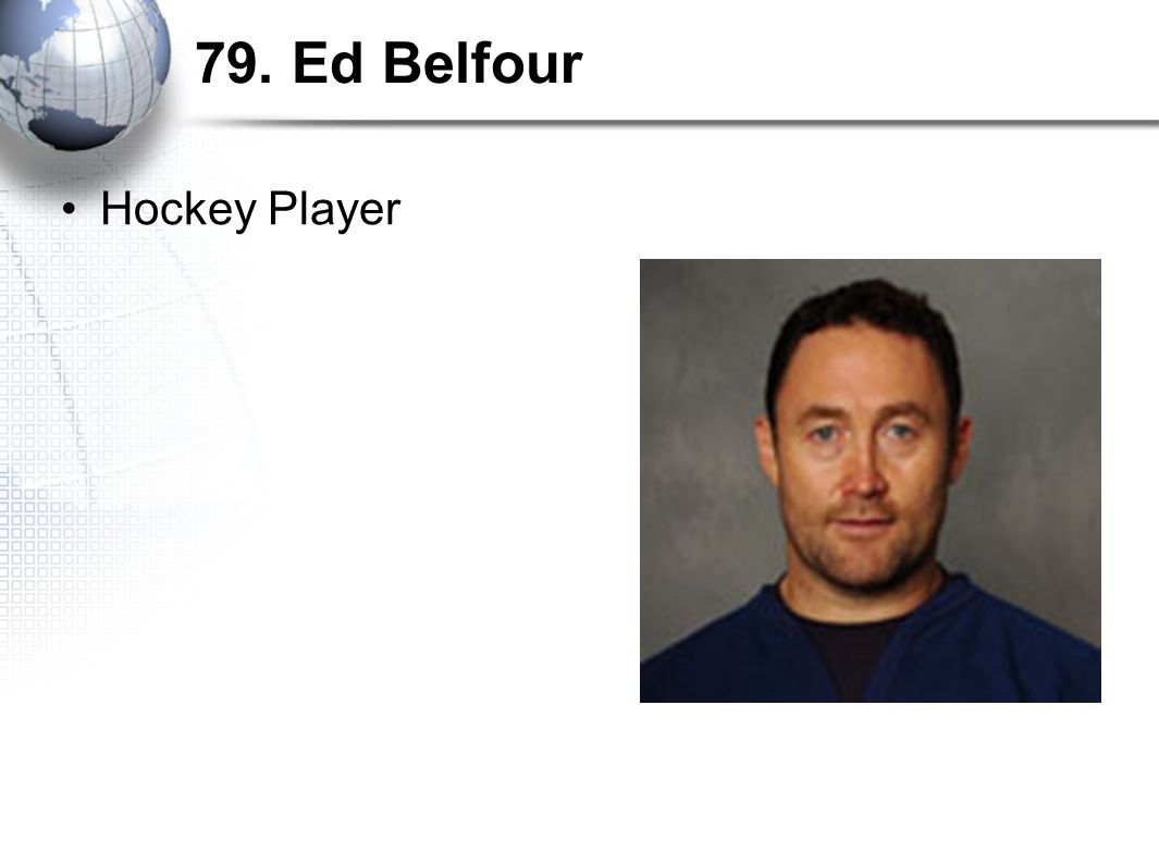 79. Ed Belfour Hockey Player