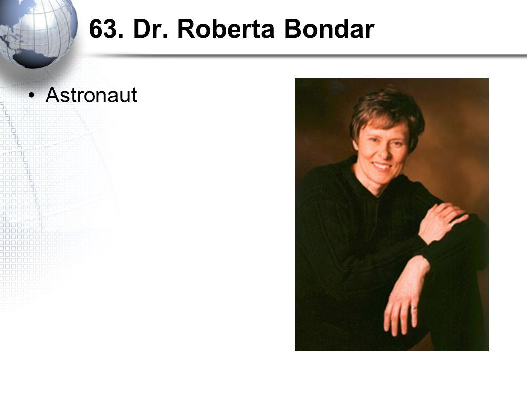 63. Dr. Roberta Bondar Astronaut