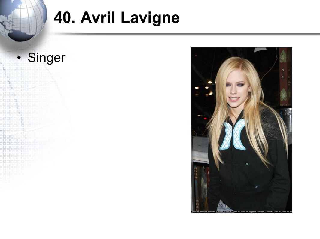 40. Avril Lavigne Singer