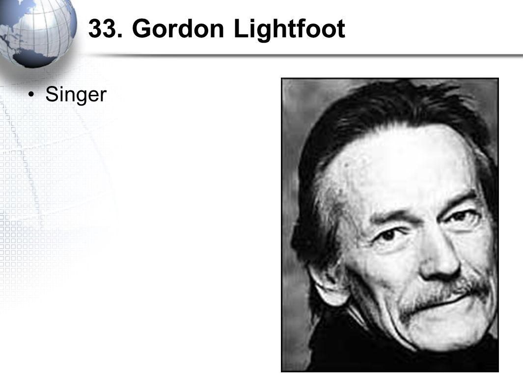 33. Gordon Lightfoot Singer