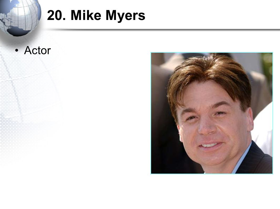 20. Mike Myers Actor