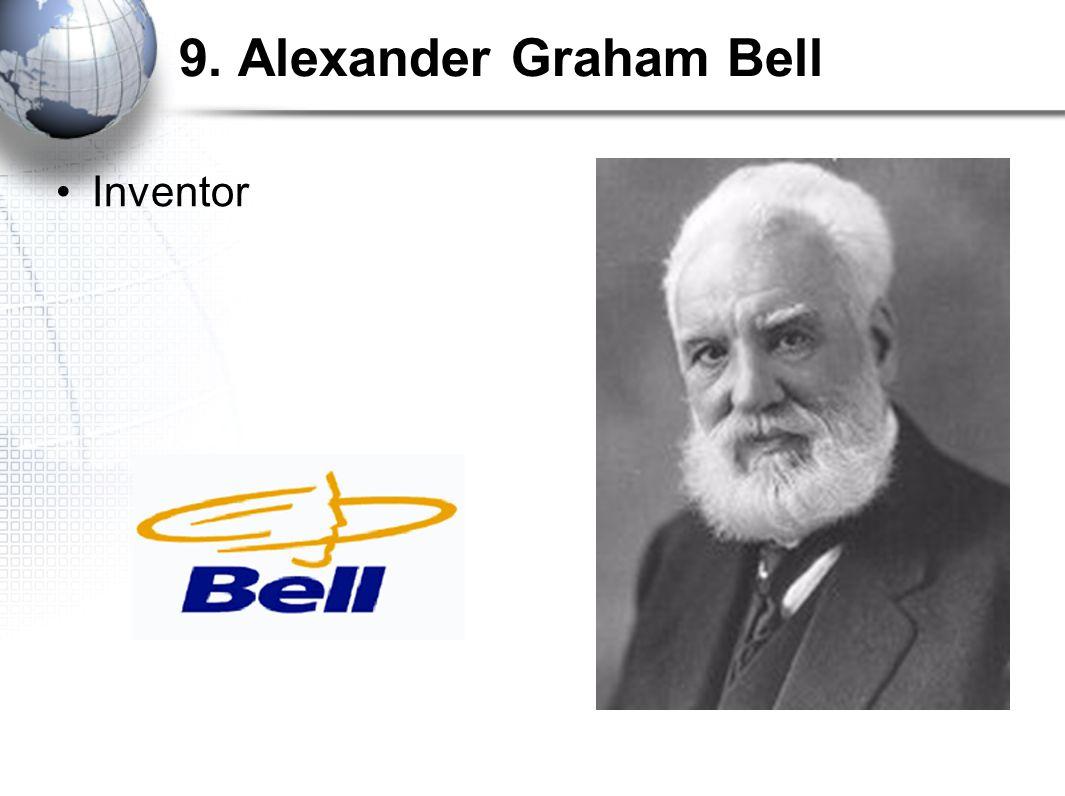 9. Alexander Graham Bell Inventor