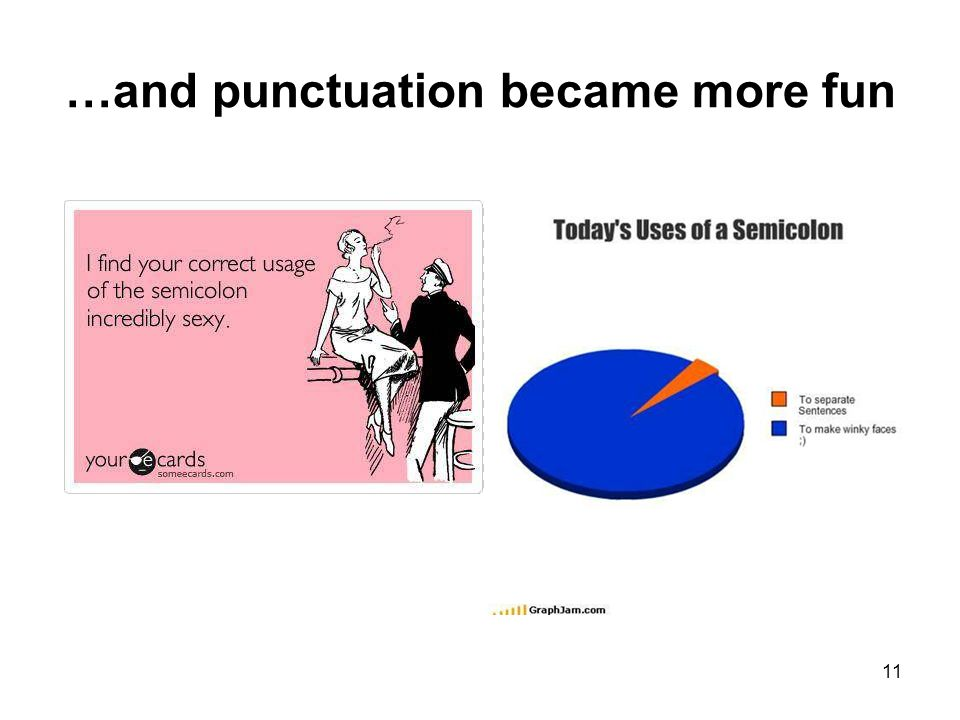 …and punctuation became more fun 11