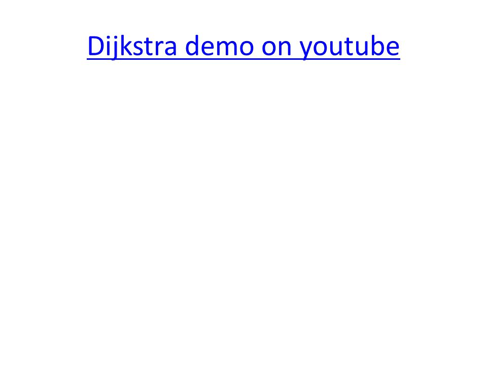 Dijkstra demo on youtube