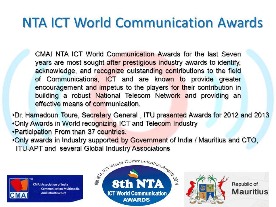 Dr.Hamadoun Toure, Secretary General, ITU presented Awards for 2012 and 2013Dr.