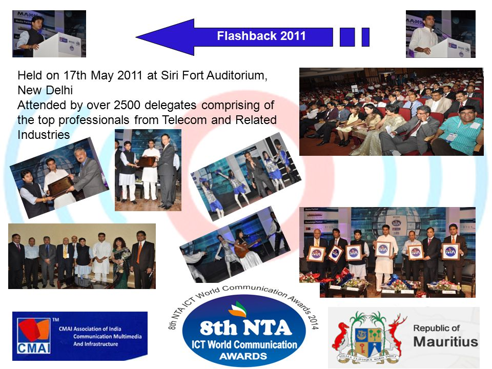 19 Flashback 2011 Held on 17th May 2011 at Siri Fort Auditorium, New Delhi Attended by over 2500 delegates comprising of the top professionals from Telecom and Related Industries