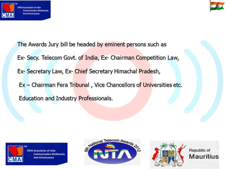 The Awards Jury bill be headed by eminent persons such as Ex- Secy.