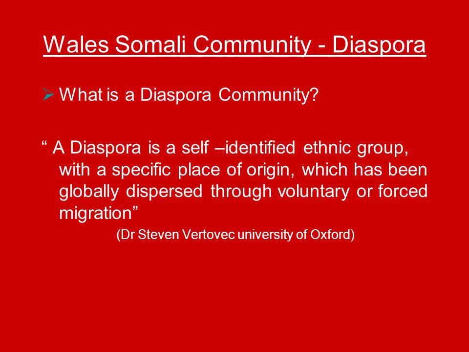 Wales Somali Community - Diaspora  What is a Diaspora Community.