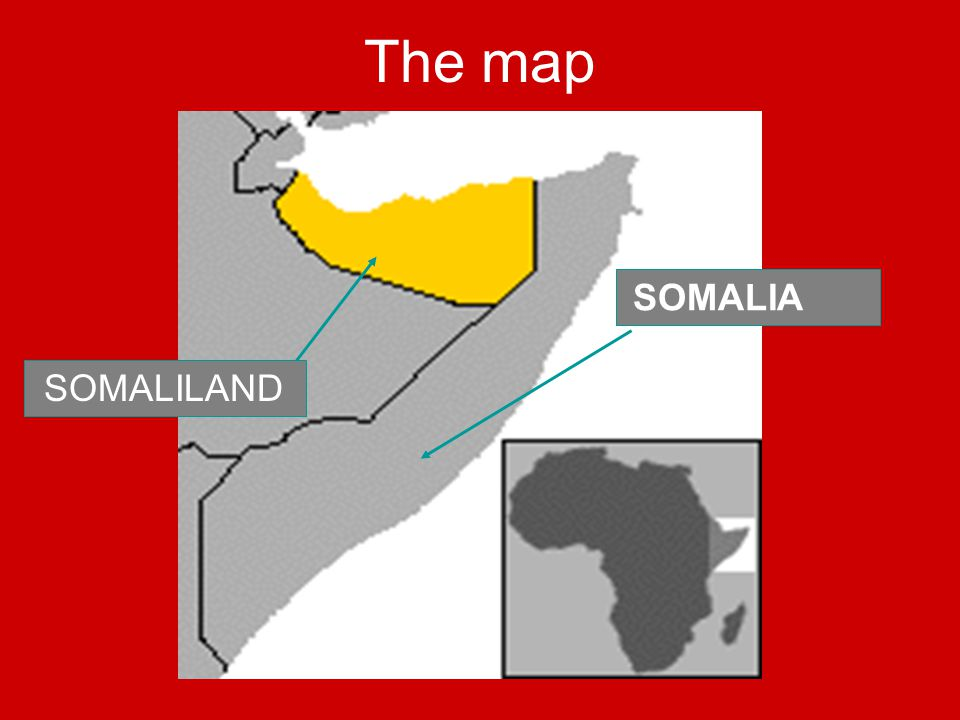 The map SOMALILAND SOMALIA