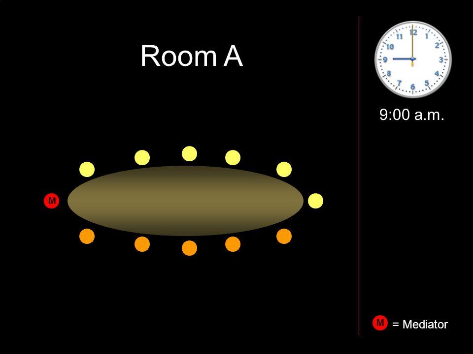 9:00 a.m. M M = Mediator Room A