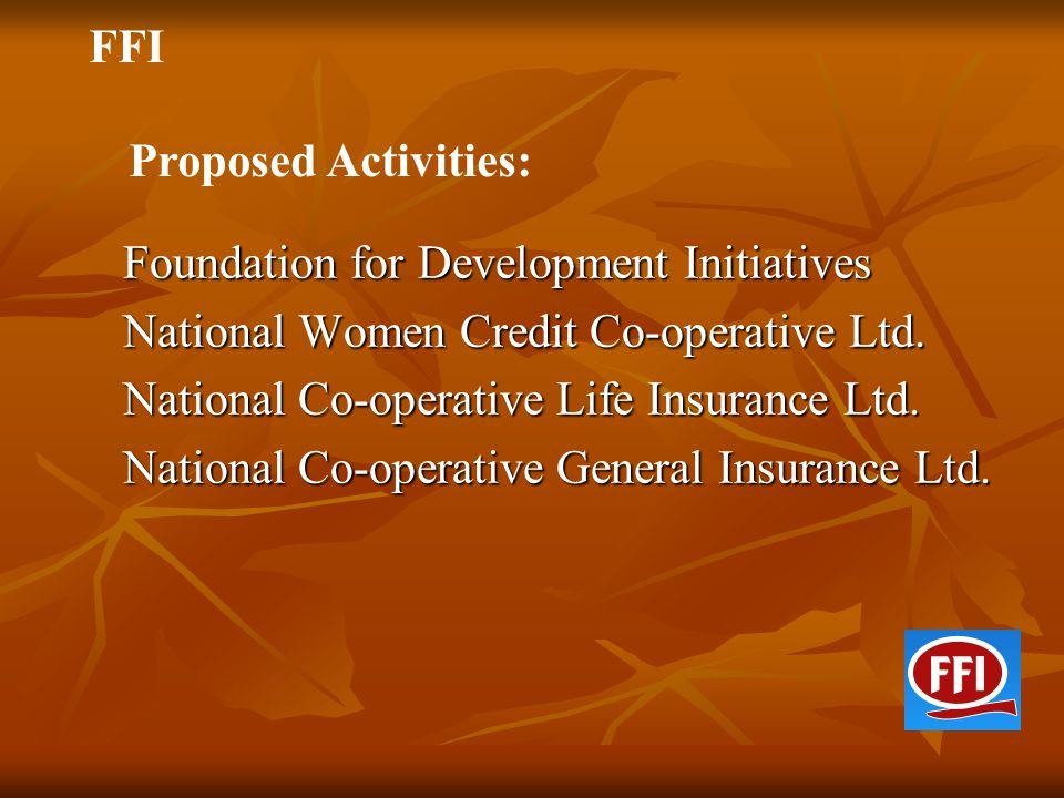 Foundation for Development Initiatives Foundation for Development Initiatives National Women Credit Co-operative Ltd. National Women Credit Co-operati