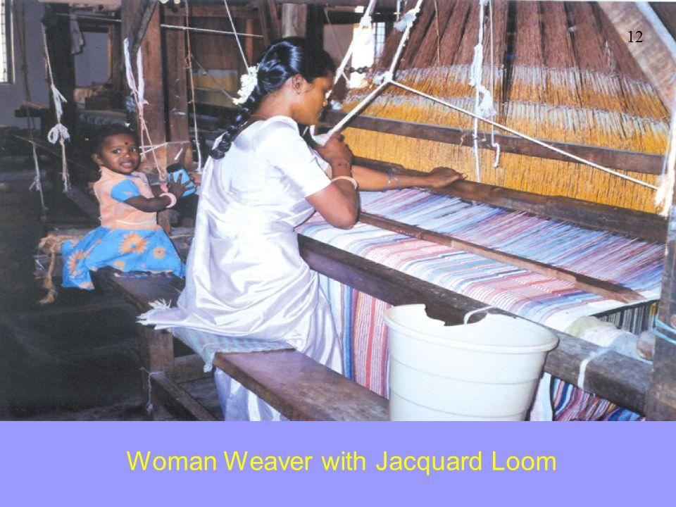 Woman Weaver with Jacquard Loom 12