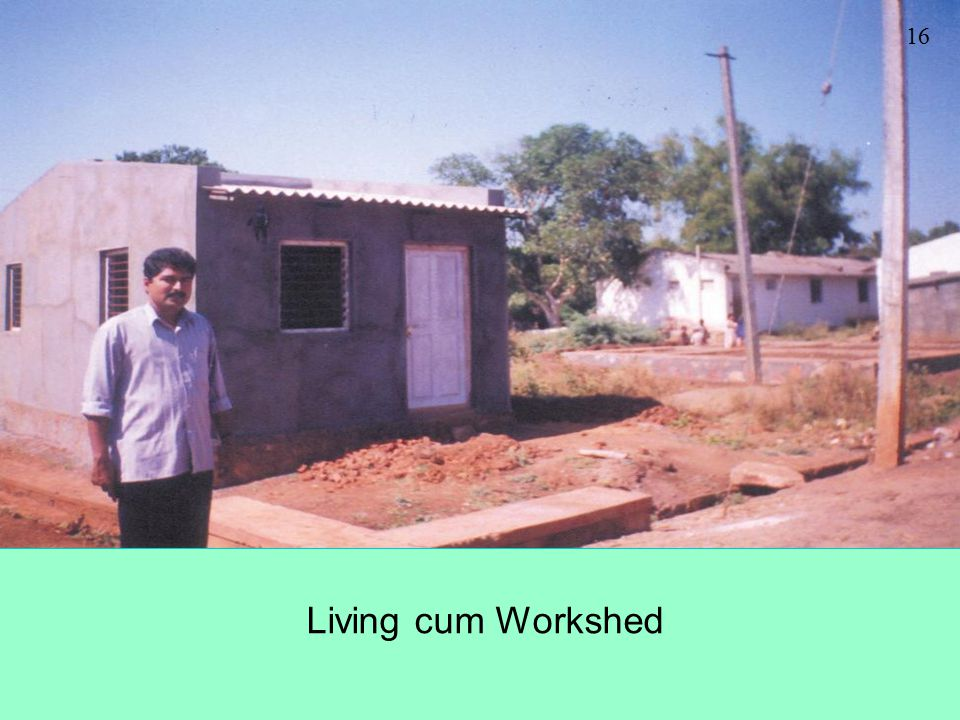 Living cum Workshed 16